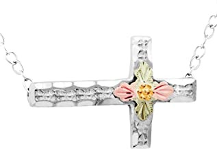 product image for Black Hills Gold on Silver Horizontal Cross Necklace
