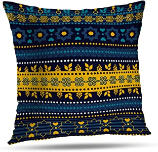Kutita Moroccan Decorative Pillow Covers, Tribal Can Cloth Bags Pads Blankets Furniture Moroccan Scarf Africa Throw Pillow Decor Bedroom Livingroom Sofa 18X18 inch