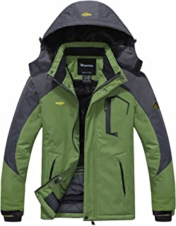 Wantdo Men's Mountain Waterproof Ski Jacket Windproof Rain Jacket