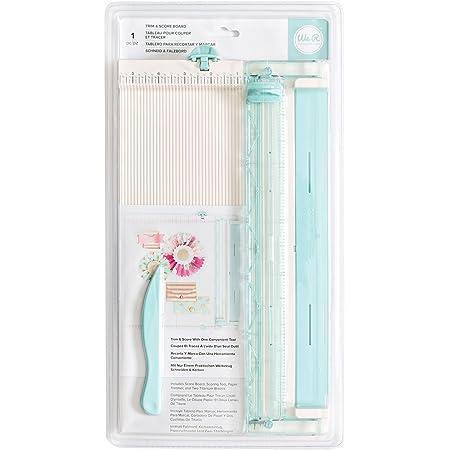 Rayher Trim & Score Board massicot papier ?? rogneuse papier pratique ?? pour découper et plier avec un seul outil ?? massicot de bureau, pour la maison, l??école