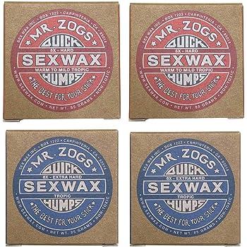 4個セットSEX WAX セックスワックス サーフワックス/サーフボードワックス サーフボード滑り止め  WARM(初夏用)2個&TROPICAL(夏用)2個