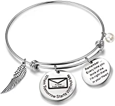 QIIER Bereavement Gift Memorial Bracelet When Tomorrow Starts Without Me Bracelet Sympathy Gift in Memory of Loved One Dad Mom or Beloved Pet