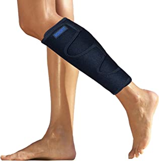 Shin Splint Brace for Calf Strain - Calf Brace for Torn Calf Muscle - Shin Brace Calf Wrap - Calf Support Leg Brace for Shin Splints - Neoprene Lower Leg Calf Compression Sleeve Men Women for Calf Strain Injury Tear Runners Remedy