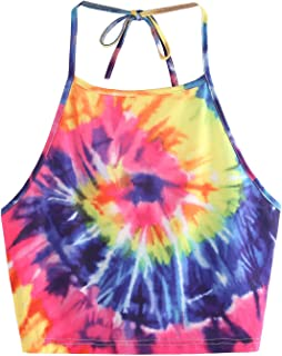 tie dye crop top and shorts