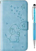 Grandoin Funda para Samsung Galaxy A5 2017 / A520,Patrón de Elefante PU Cuero Case Cuerpo Completo Carcasa Protectora Cartera Soporte Plegable Función Fundas Case Cover (Azul)
