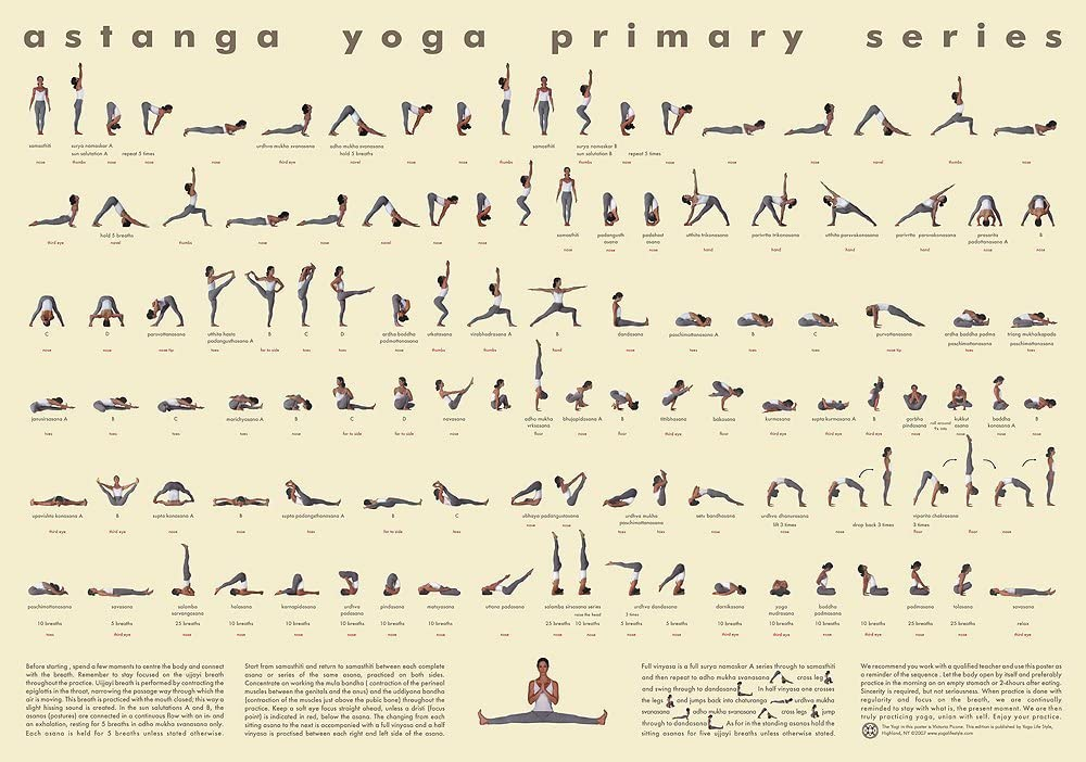 Laminated Large Wall Genuine Free Shipping Use Version 112 Ashtan - Yoga Chart Posture Cash special price
