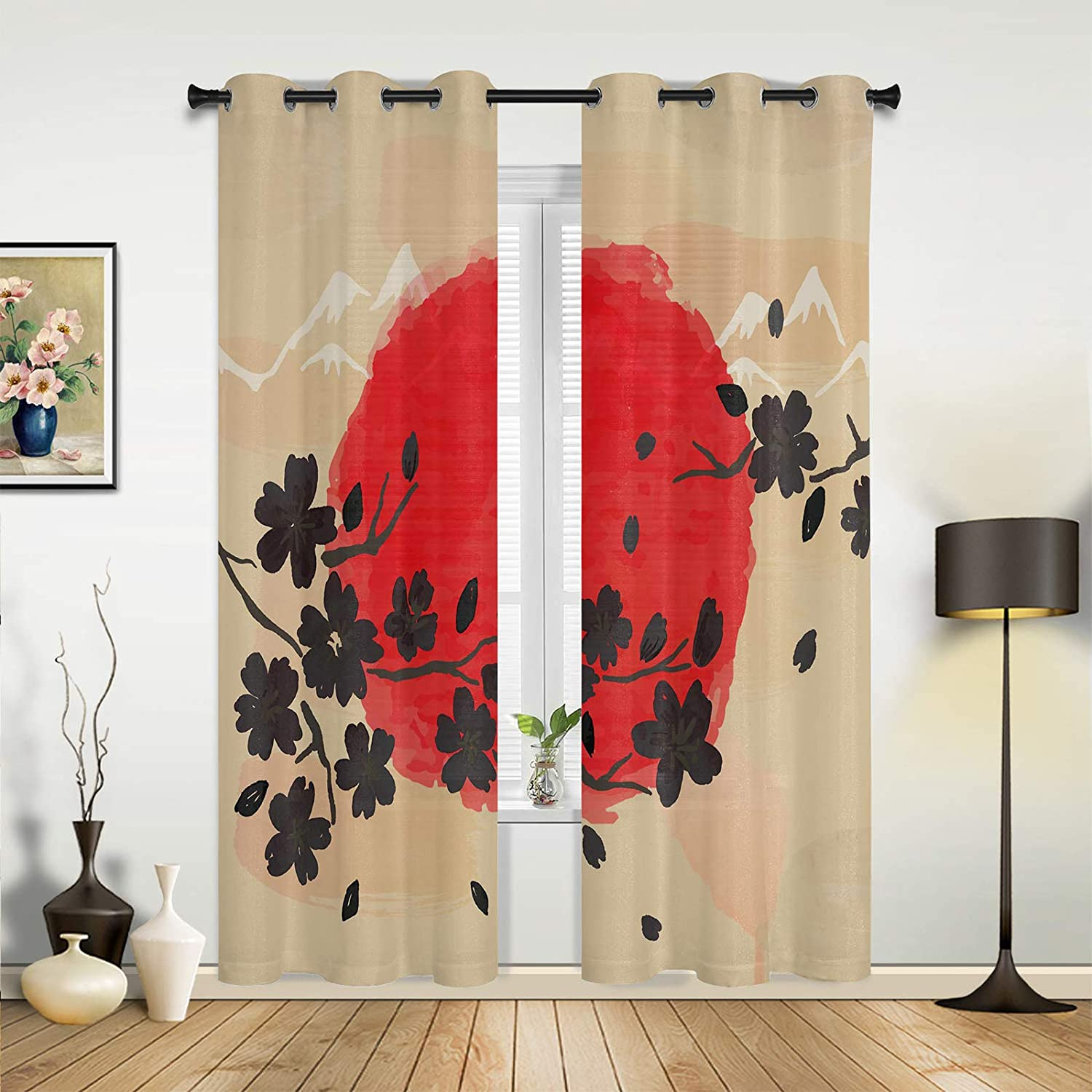 Beauty Decor Window Easy-to-use Sheer Curtains Sprin Living Bedroom for Room Super special price