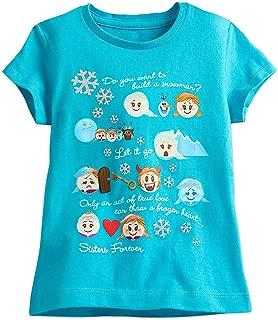 Disney Frozen Emoji Tee for Girls Blue