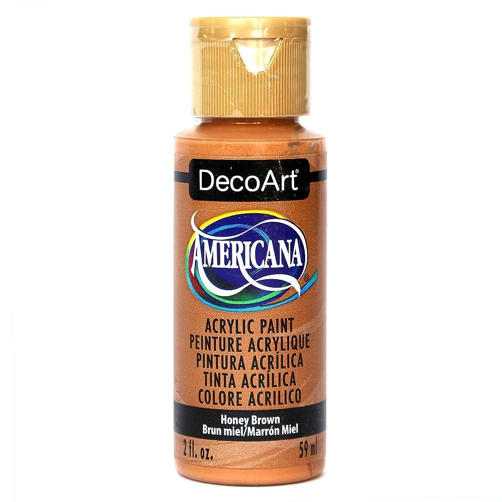 DecoArt Americana Acrylic Paint, 2-Ounce, Honey Brown