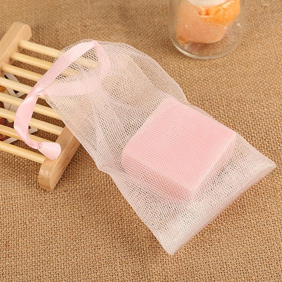 きちんとした揮発性バルクdailymall 泡を作るための10個のメッシュ石鹸袋セーバーポーチ巾着ホルダーバッグ