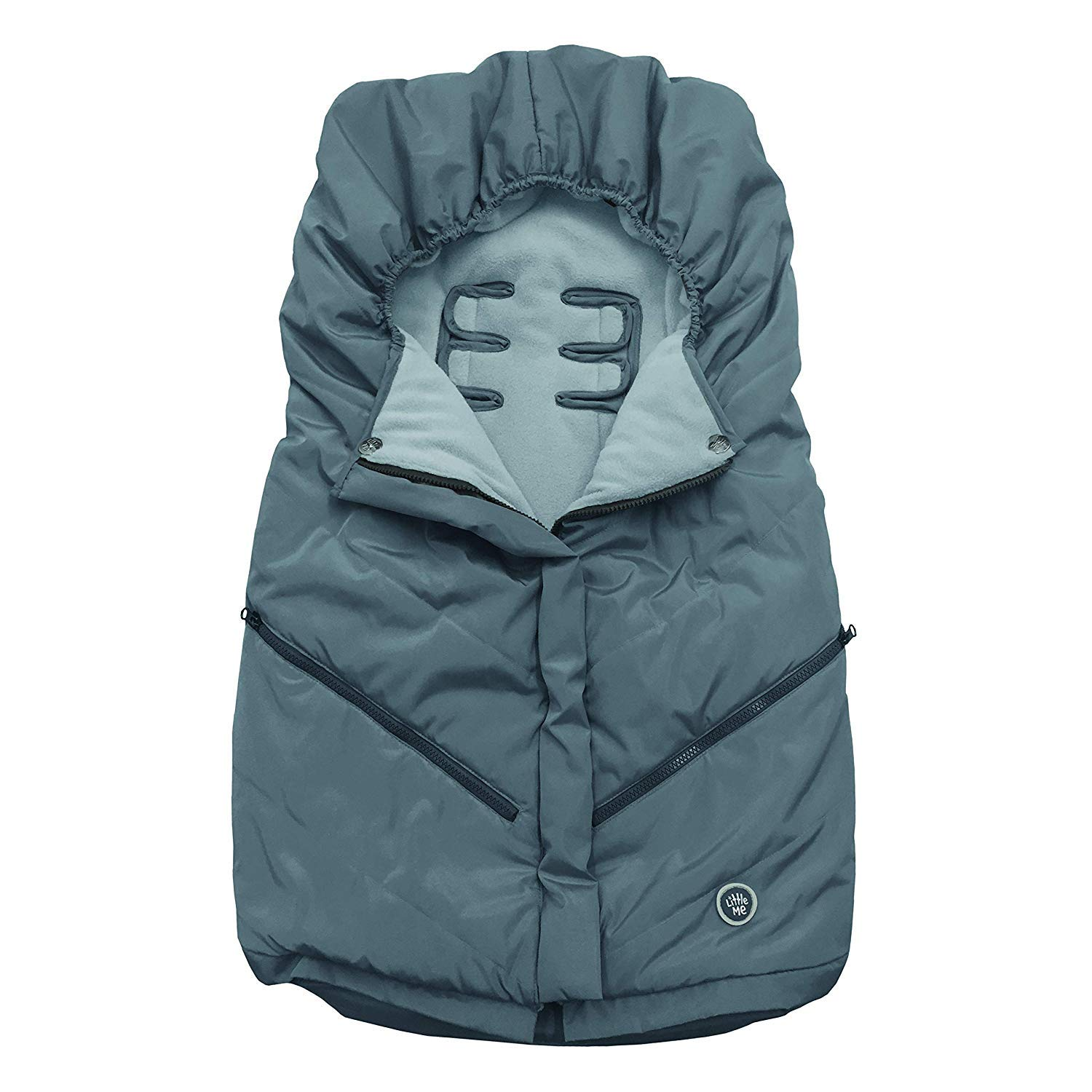Little Me Footmuff for Strollers, Grey