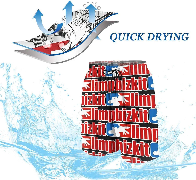 Goomix Limp-Bizkit Boys Teens Swim Trunks Quick Dry Waterproof Surfing Board Shorts Drawstring Elastic Waist with