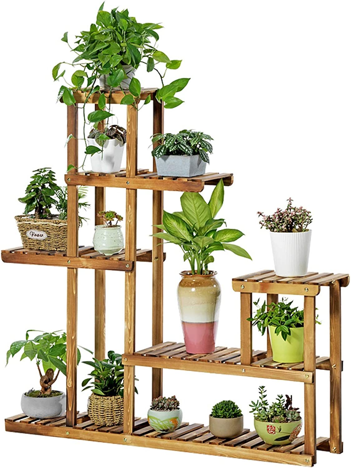 Flower Frame Solid Wood Multi-Storey Indoor Multi-Function Living Room Combination Plant Potted Green Plant Balcony 120CM  25CM  120CM