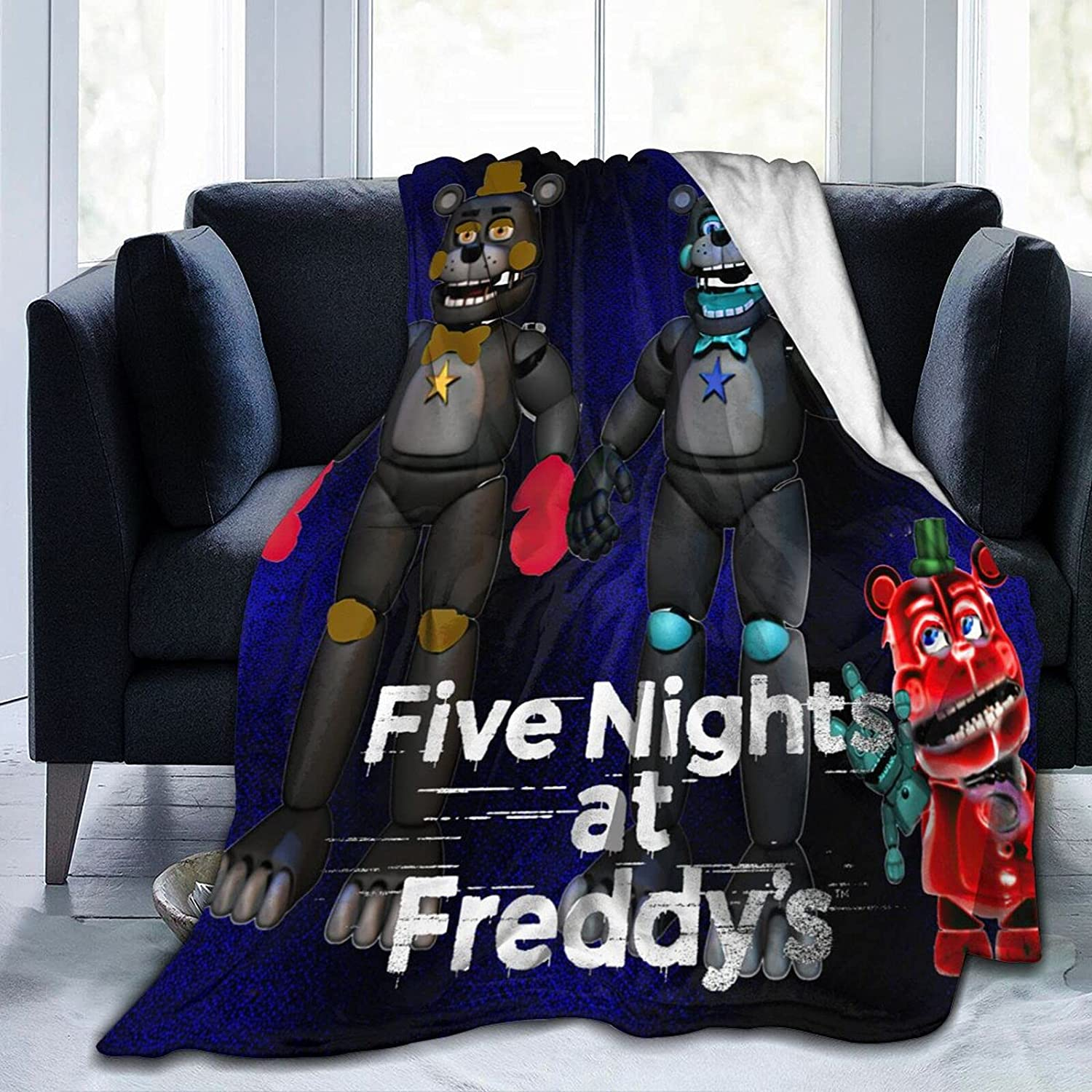 Flannel Throw Five-Nights at Comfortable Blanket Freddy's Free shipping anywhere in the nation Womens Japan's largest assortment