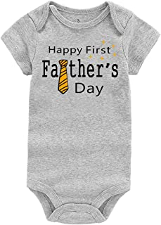 1ccc0eb0c WINZIK Happy 1st Father's Day Baby Bodysuit Romper Outfit Clothing Newborn  Infant Boy Girl One-