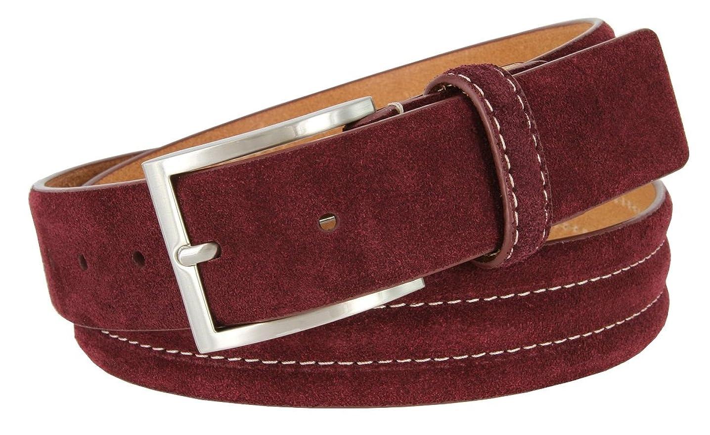 Men's Golf Genuine Suede Casual Dress Leather Belt 1-3/8