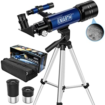 with 3 Eyepieces H20mm H12.5mm H4mm/&Tripod/&Finder Scope/&Moon Mirror 70X-350X Magnification ToyerBee Telescope 76mm Aperture 700MM Reflector Telescope for Kids/& Students/&Adults/&Astronomy Beginners