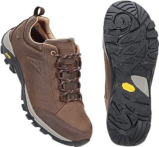 Mountain Warehouse Pioneer Waterproof Leather Womens Walking Shoes -Vibram Sole Sports Footwear, Breathable, Nubuck Leathe...