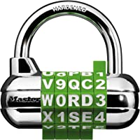 Master Lock 1534D Set Your Own Word Combination Locker Padlock