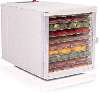 JAYETEC Food Dehydrators, 10 Trays staniless steel trays with digital adjustable,temperature and timer controlling, vegeta...
