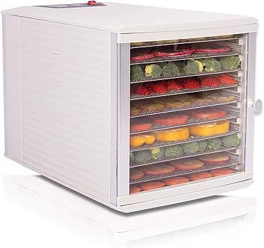 JAYETEC Deshidratadores de alimentos, 10 bandejas de acero inoxidable con control digital ajustable, temperatura y temporizad