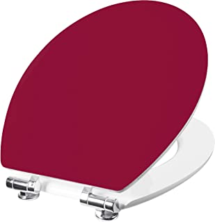 Cornat Vorea KSVOSC92 Toilet Seat with Simple Look in Blackberry Colour Wooden Core and Soft-Close Mechanism Plain Design