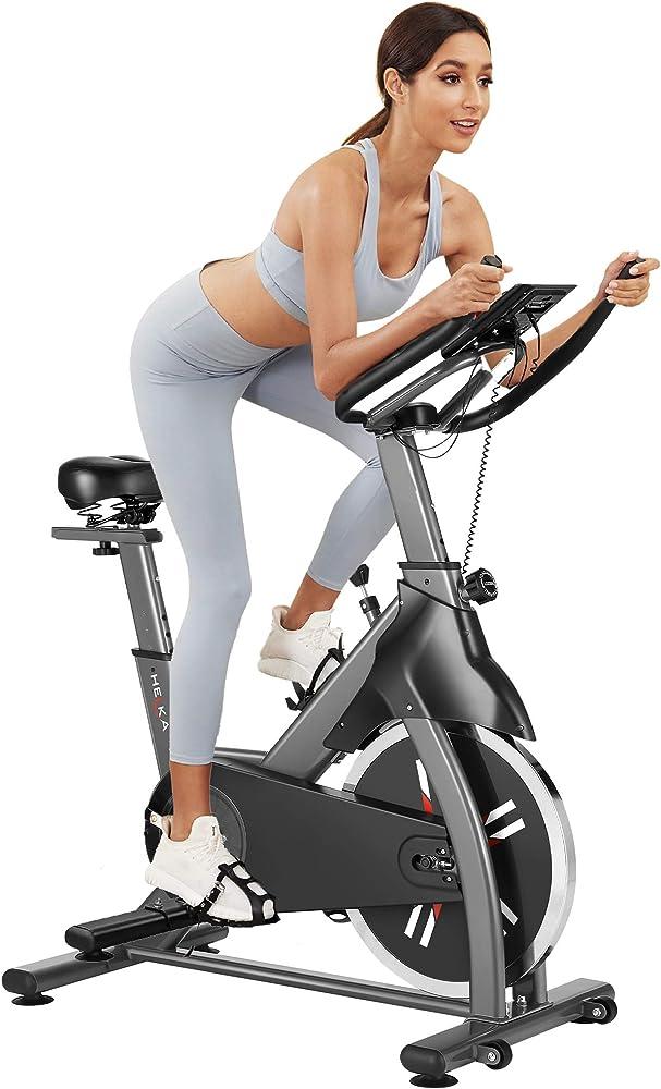 caroma cyclette bici da spinning display lcd grigio-2
