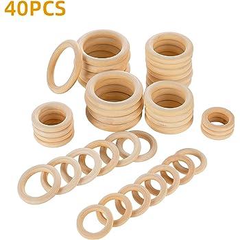 10 X Baby Rings hölzernes Halsketten-Armband 25mm-60mm;