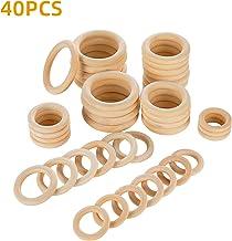60 mm Wiffe 5Pcs Anello in legno naturale