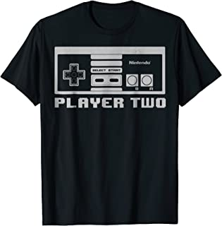 Nintendo NES Controller Player Two 8-Bit Graphic T-Shirt