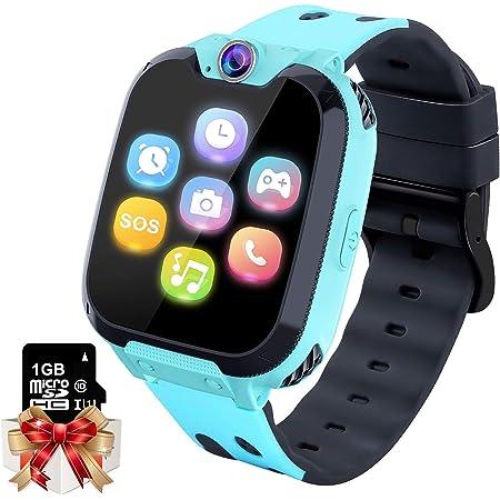 Smartwatch para Niños Game Watch - Juego de Música Reloj Inteligente (Incluye Tarjeta Micro SD de 1GB) con Juegos de Llamada Grabadora de Cámara Reloj Despertador para Niños Niñas (Azul)
