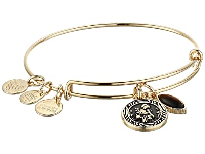 Alex and Ani Saint Anthony Duo Charm Bangle Bracelet (Gold) Bracelet