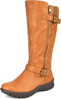 Women's Fur Lined Flat Winter Snow Boots