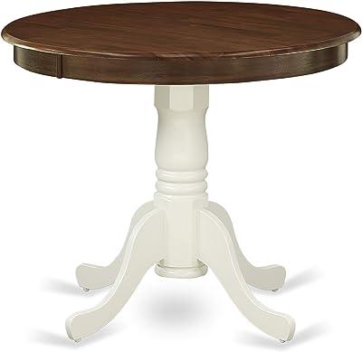 Amazon.com: East West Furniture, mesa redonda de dos hojas ...