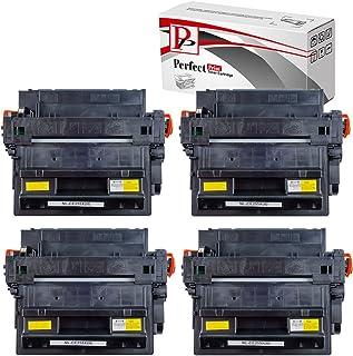 PerfectPrint Compatible Virador Cartucho Reemplazo Para HP LaserJet Enterprise 500 Flow MFP M525 C M525DN M525 F P3015 P3015d P3015dn P3015 x, LaserJet Pro M521dn M521dw CE255X (Negro, 4-Pack)