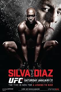 Pyramid America Official UFC 183 Anderson Silva vs Nick Diaz Sports Cool Wall Decor Art Print Poster 12x18