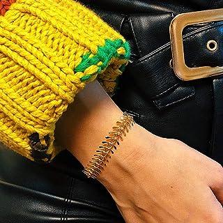 TseenYi Mode Visgraat Armband Handketting Armband Elegante Bruids Armband Handpiece Sieraden voor Vrouwen en Meisjes (Goud)