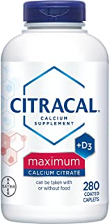 Citracal Maximum, Highly Soluble, Easily Digested, 630 mg Calcium Citrate With 500 IU Vitamin D3, Bone Health Supplement f...