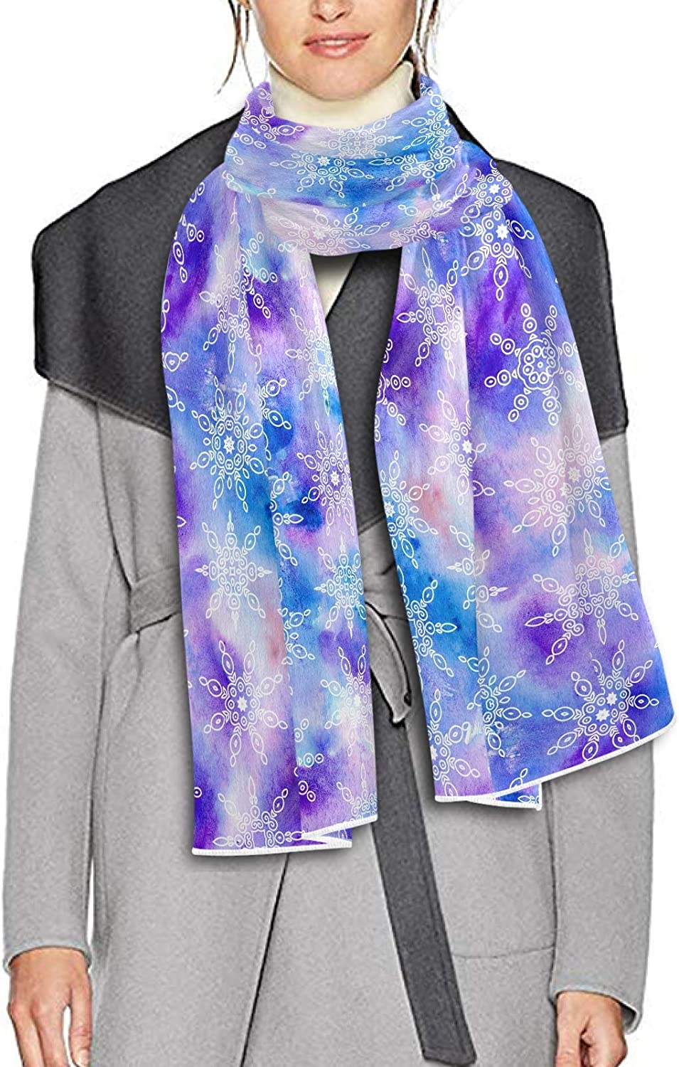 Scarf for Women and Men Snowflakes Blanket Shawl Scarf wraps Warm soft Winter Long Scarves Lightweight
