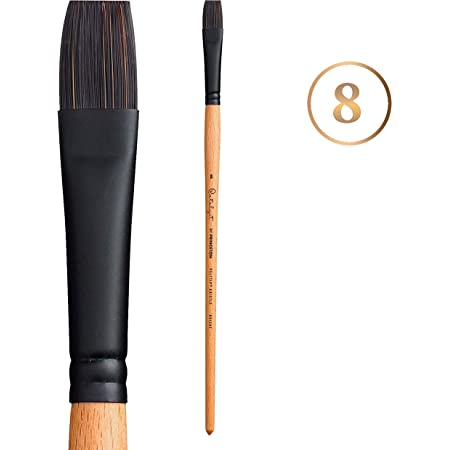 Brushes for Acrylic /& Oil Princeton Catalyst Polytip Series 6400 Long Handle Flat Size 2