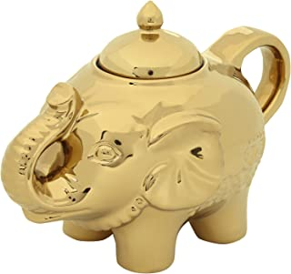 Bia Elephant Sugar Pot Bowl Storage Container With Lid Gold Colour Porcelain New