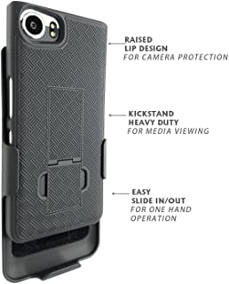 Blackberry Keyone Case Verizon tmobile at&t att Unlocked Black Edition With Belt Clip Holster Dual Layer Shell ( Tungsten )