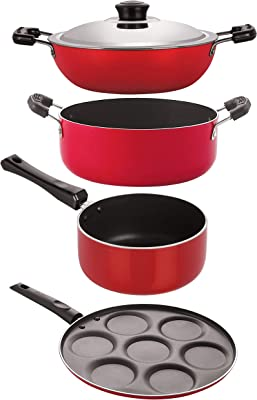 NIRLON Kitchen Non Stick Cookware Combo Set of 4Pcs (DKD(B)_SP(M)_UP7_CS24)