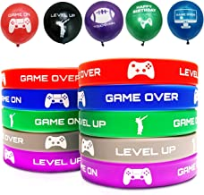AJ Party Supplies Bracelets And Balloons  Gaming Party Themed Favors For Kids Boys And Girls 30 Pack