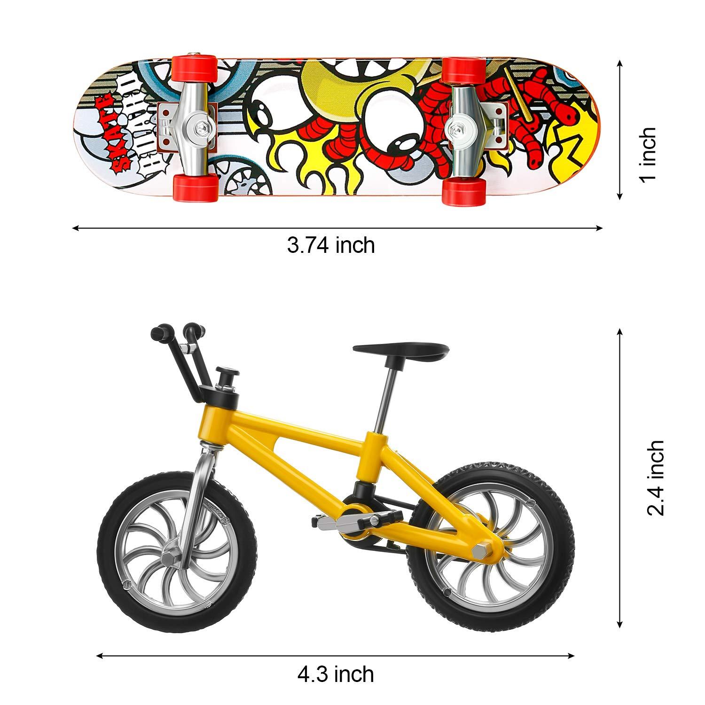 Gejoy 14 Piezas Bicicletas Patinetas de Dedo Monopatines Bicicleta ...