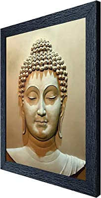 Random (RP-1044) Multicolor Lord Buddha Painting, 12 X 14 INCH