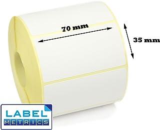 Apli 100764 Lot de 2400 Etiquettes DIN A4 multi usage 70 mm x 35 mm Jaune Fluo