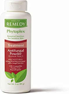 Remedy Phytoplex Antifungal Powder with 2% Miconazole Nitrate for Common Fungal Infections incuding Athlete's Foot, Talc F...