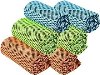 Hemoton 6 stks Koelhanddoeken IJshanddoeken Instant Cooling Zacht Ademend Chilly Handdoeken voor Yoga Sport Running Gym Wo...