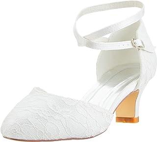 734d3151d3c6ae Mrs White 00967A Chaussures de Mariée Mariage Escarpins Pour Femme Ivoire